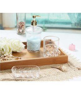 *3PC GLASS BATHROOM ACCESSORY SET (MP12)