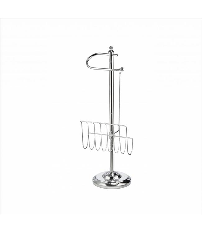 MAISON CONDELLE *TOILET PAPER & MAGAZINE HOLDER CHROME (MP4)