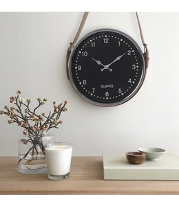 "LAUREN TAYLOR HANGING CLOCK BLACK 12"" (MP6)"