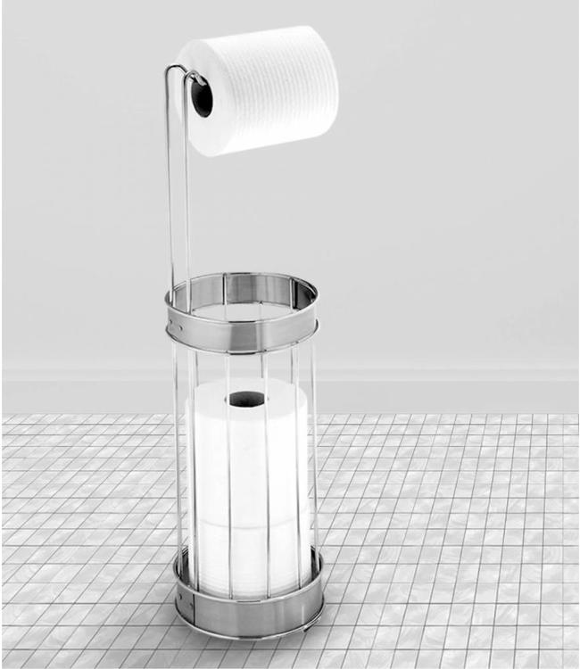 MAISON CONDELLE TOILET PAPER HOLDER & RESERVE STAINLESS STEEL (MP6)