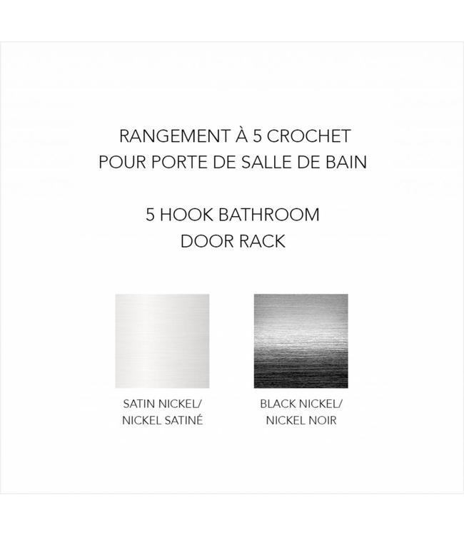 MAISON CONDELLE *OVER THE DOOR 5 DOUBLE HOOK AST (MP12)