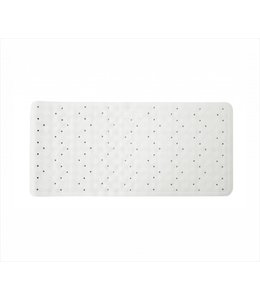 "MAISON CONDELLE RUBBER BATH MAT WHITE 14.5X29"" (MP12)"