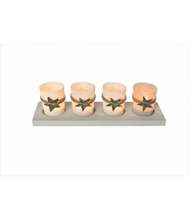 LAUREN TAYLOR *5pc STAR CANDLE SET (MP8)