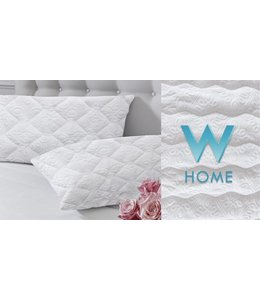 W HOME *SOFT TOUCH MATELASSE PILLOW PROTECTOR
