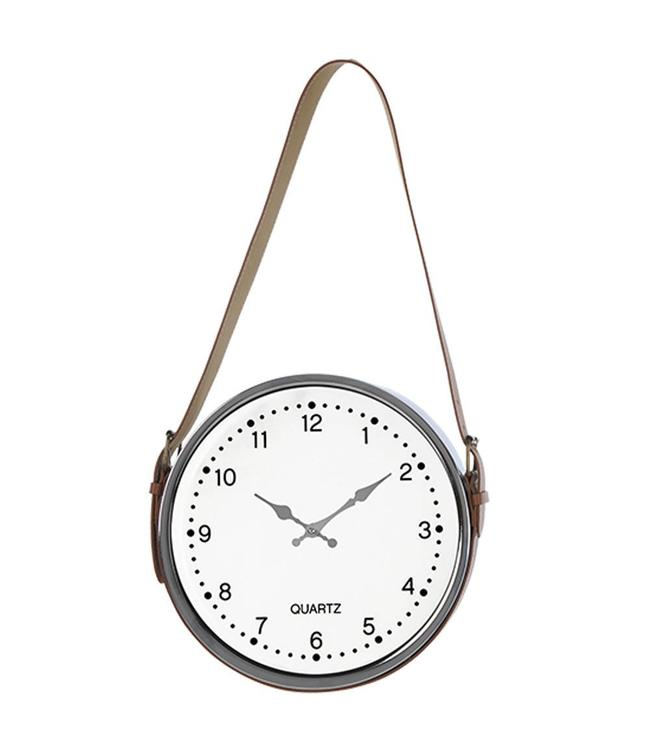 "LAUREN TAYLOR HANGING CLOCK WHITE 12"" (MP6)"