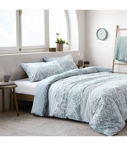 *MACKENNA COTTON 3PC DUVET COVER SET BLUE (MP2)