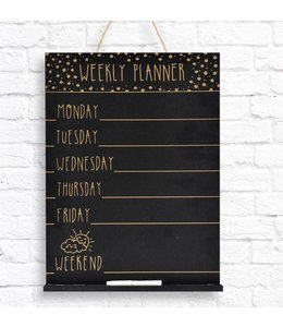 "STUDIO 707 *WEEKLY PLANNER CHALKBOARD 10X14X1.6"" (MP8)"