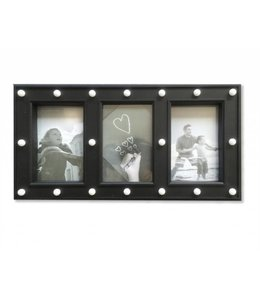 LAUREN TAYLOR LED 3 PHOTO - PICTURE FRAME BLACK (MP6)