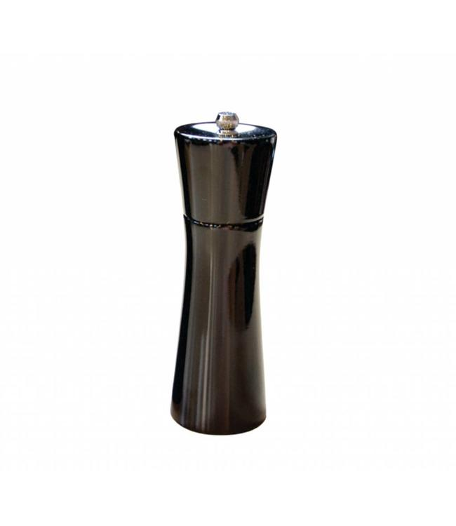 "A LA CUISINE RUBBER/WOOD SALT/PEPPER MILL w/CERAMIC GRINDER BLACK 7"" (MP12)"