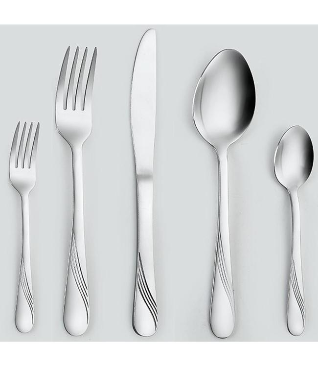 20PCS CUTLERY SET WAVE DESIGN (MP12)