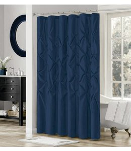 LAUREN TAYLOR *MIDNIGHT COLLECTION RUCHED SHOWER CURTAIN AST (MP12)