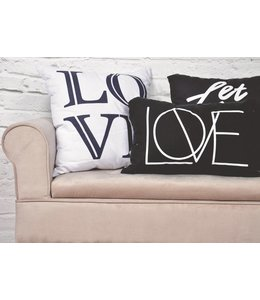 "ADRIEN LEWIS *LOVE CUSHIONS WHITE 20X20"" (MP6)"