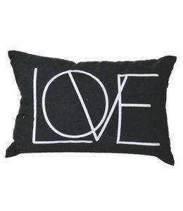 """ADRIEN LEWIS LOVE CUSHIONS BLACK 13X19"""" (MP6)"""