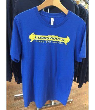 canvas LoweRiders T-shirts- Yellow on Blue