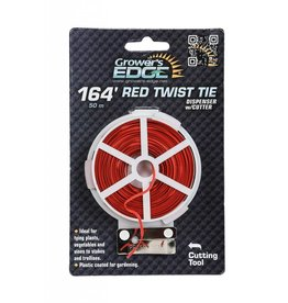 Growers Edge Grower's Edge Red Twist Tie Dispenser w/ Cutter 164 ft