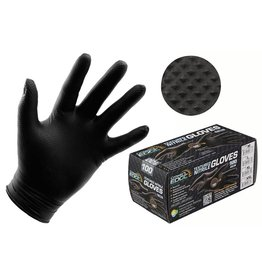 Growers Edge Grower's Edge Black Powder Free Diamond Textured Nitrile Gloves 6 mil - Large (100/Box)