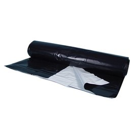 Berry Plastics Berry Plastics Black/White Poly Sheeting Commercial Size - 5 mil 24 ft x 100 ft