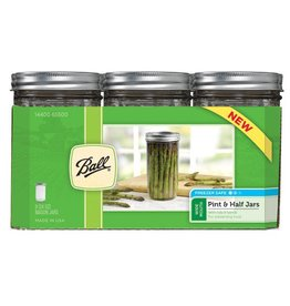 Ball Ball Jars Wide Mouth Pint & Half (9/Cs)