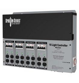Titan Controls Titan Controls Spartan Series Metal 16 Light Controller 240 Volt w/ Timer - Universal Outlets