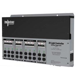 Titan Controls Titan Controls Spartan Series Metal 20 Light Controller 240 Volt w/ Dual Trigger Cords - Universal Outlets
