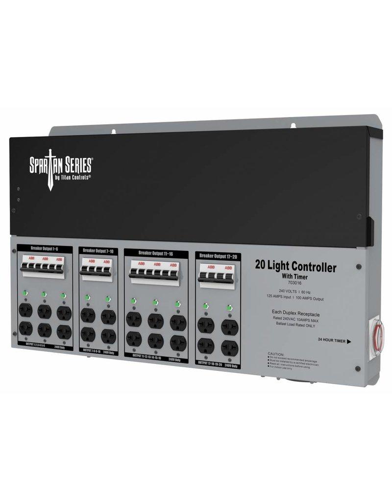 Titan Controls Titan Controls Spartan Series Metal 20 Light Controller 240  Volt w/ Timer - Universal Outlets