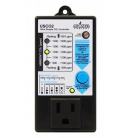 Gro Zone Grozone Control USCO2 0-2000 PPM Single Zone Ultra Simple CO2 Controller