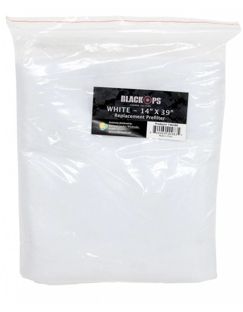 Black Ops Black Ops Replacement Pre-Filter 14 in x 39 in White
