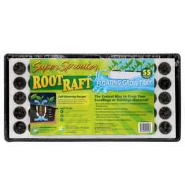 Super Sprouter Super Sprouter Root Raft Floating Plug Tray 55 ct