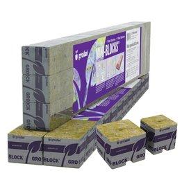 Grodan Grodan 2 in Starter Mini-Blocks MM50/40 2 in x 2 in x 2 in (2 Strips of 12 or 24 ct)