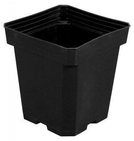 Gro Pro Gro Pro Black Plastic Pot 6 in x 6 in x 7 in