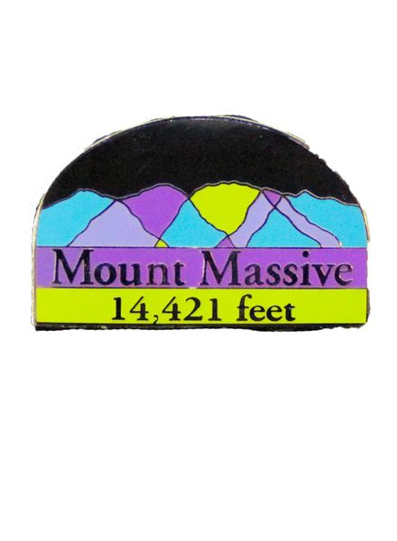 Mount Massive Pin