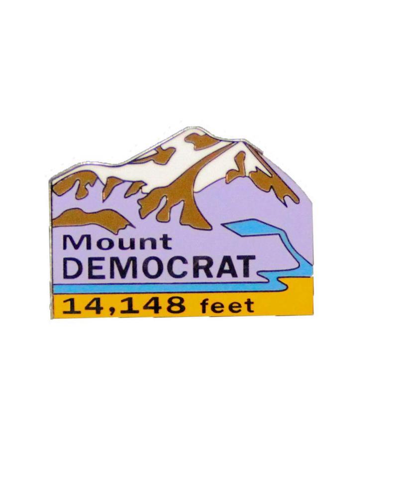 Mount Democrat Pin