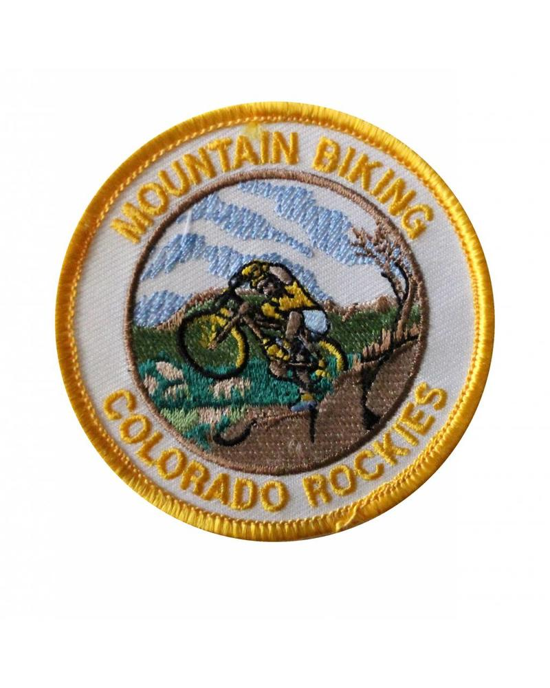 Mountain Biking Colorado Rockies Patch