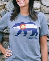 Trailhead Tri-Blend Crew Colorado Flag Bear Tee