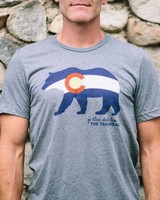Trailhead Tri-Blend Colorado Flag Bear Tee