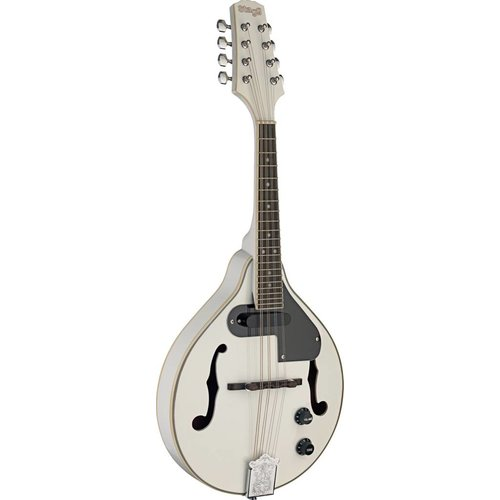 Stagg WHITE BLUEGRASS ACOUSTIC-ELECTRIC MANDOLIN