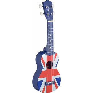Stagg UK-FLAG Union Jack Graphic Series Soprano Ukulele with Gigbag