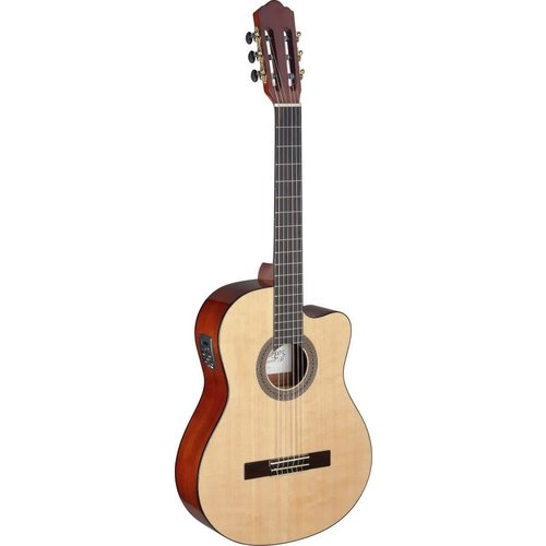 Stagg Mencia series cutaway acoustic-electric classical guitar with solid spruce top