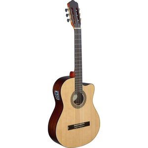 Stagg Cereza series cutaway acoustic-electric classical guitar with solid spruce top