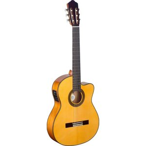 Stagg Cutaway acoustic-electric flamenco classical guitar with solid spruce top and Fishman equaliser