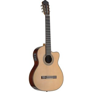 Stagg Cutaway acoustic-electric classical guitar with solid class A spruce top and Fishman electronics