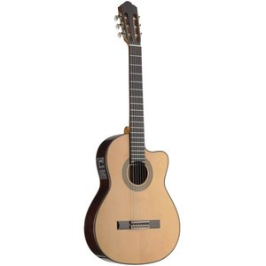 Stagg Acoustic-electric classical guitar with thin body and solid class A spruce top