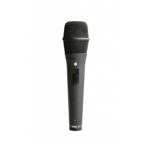 RODE Live performance Super Cardioid Condenser Microphone w/ locking on/off switch.