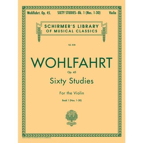 Hal Leonard Wohlfahrt - 60 Studies, Op. 45 - Book 1 Violin Method