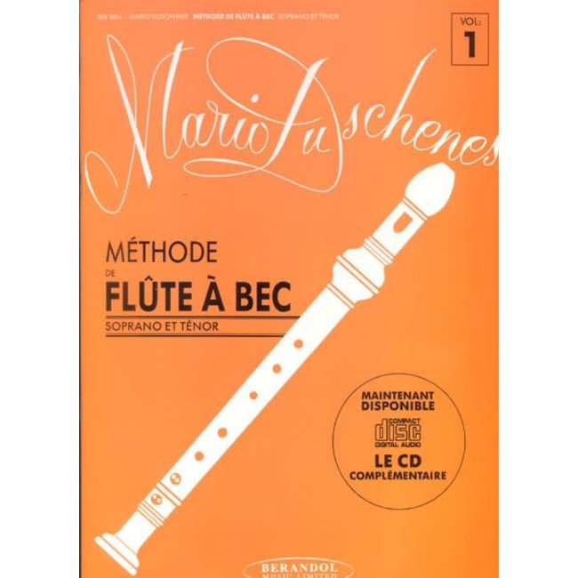 Leslie Music Supply Method For Recorder, vol. 1 (French Edition)