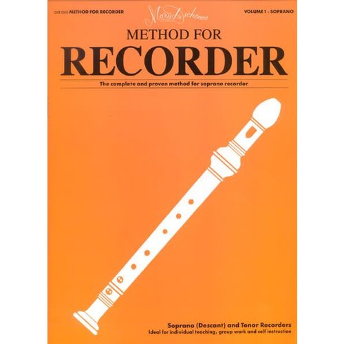 Leslie Music Supply Method For Recorder by Mario Duschenes Vol. 1