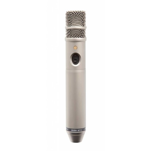 """RODE NT3 Multi-powered 3/4"""" cardioid condenser microphone. P48 and 9V battery powered."""
