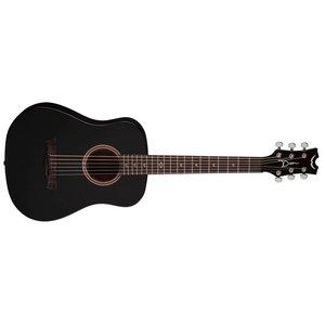 Dean Flight Mahogany Travel Guitar BKS w/Gig
