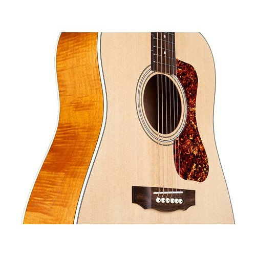 Guild D-240E LTD Flame Mahogany Natural, Westerly Collection Archback Series w/Bag