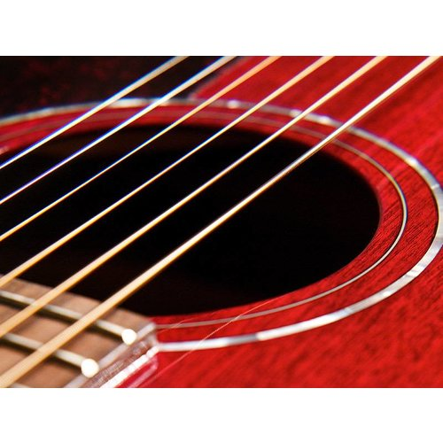 Guild M-120E Cherry, Westerly 120 Series All Solid Mahogany Concert Style Acoustic  w/Case and Pickup